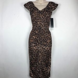 Stop Staring Femme Leopard Dress NWT